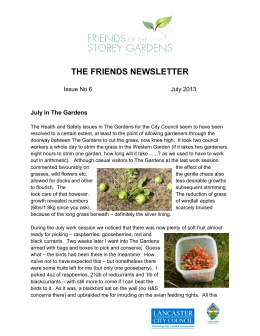THE FRIENDS NEWSLETTER