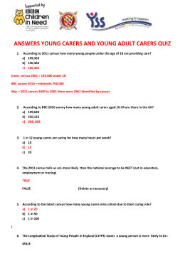 Young Carers Quiz with ANSWERS