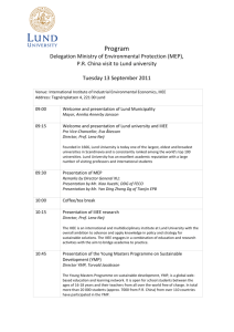 Program Delegation Ministry of Environmental Protection (MEP