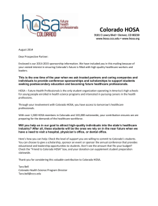 Sponsor Now - Colorado HOSA
