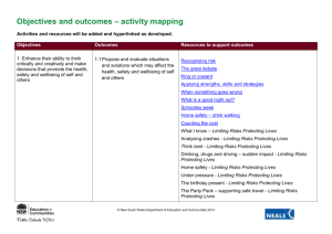 Resources mapped to outcomes