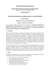 Value Chain Challenges and Opportunities in a Volatile Market