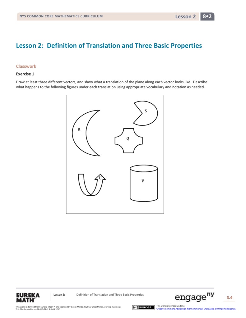 definition of translation and three basic properties