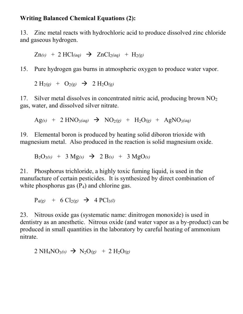 magnesium oxide plus hydrochloric acid