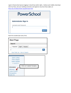 Login to Powerschool (person logging in should have admin rights