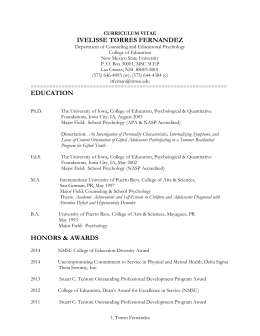 CURRICULUM VITAE - Counseling & Educational Psychology
