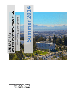 conservation plan - California State University, East Bay