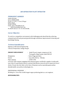 air seperation plant operator permanent address