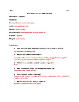 animal farm study guide answer key rh studylib net animal farm study guide answers pdf animal farm study guide answers chapter 4-6