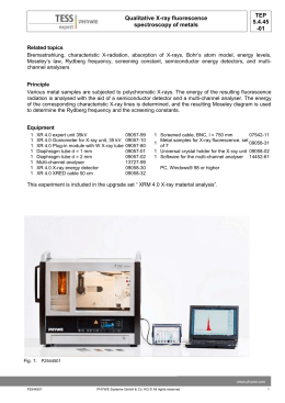 TEP 5.4.45 -01 Qualitative X-ray fluorescence spectroscopy of