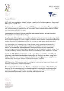 Media Release - Victorian Environmental Assessment Council