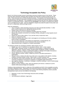 Technology Acceptable Use Policy- Staff
