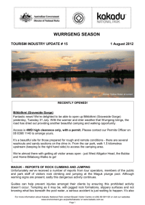 Kakadu National Park - Tourism Industry update #15 2012