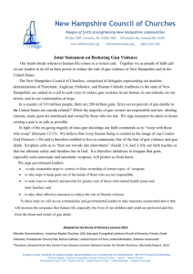 Joint Statement on Gun Violence January 2013
