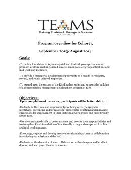Cohort 5 Program Overview