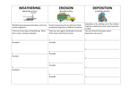 Erosion & Deposition Worksheet