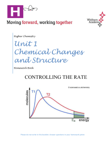 HC Unit 1 - controlling the rate homework