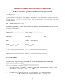 Employee Health Fit Test Form