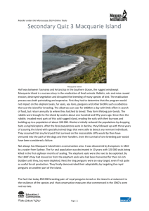 Macquarie Island information - Murder under the Microscope