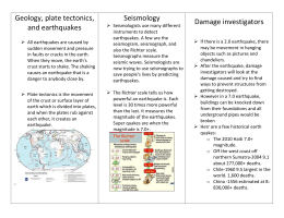 Geology plate tectonics and earthquakes