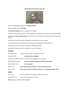 2014 Review for Canterbury Tales quiz