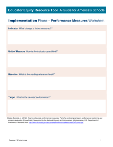 Implementation Phase Performance Measures
