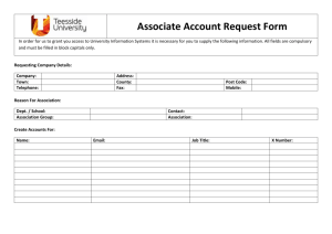 Bulk Associate Account Request Form
