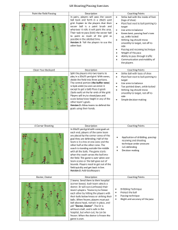 U8 Passing & Shooting Exercises