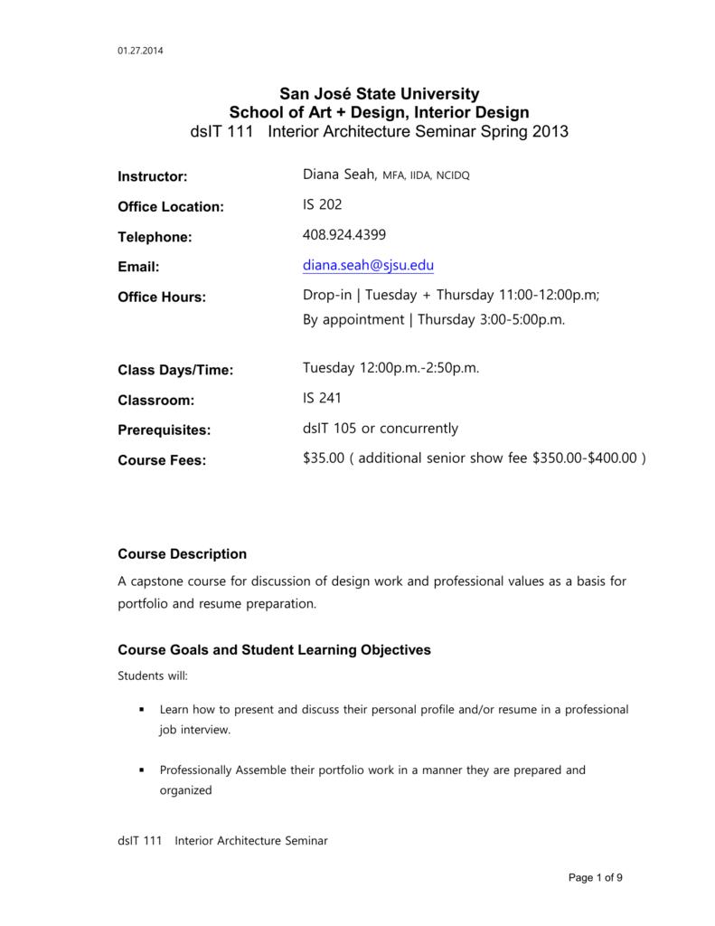 Course Description - San Jose State University