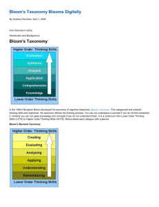 Bloom`s New Taxonomy.. - it