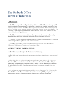 2. structure of ombuds office