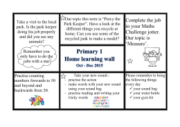 Homelearning term 2 2015