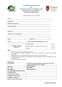 Registration Form - ncacit-2016