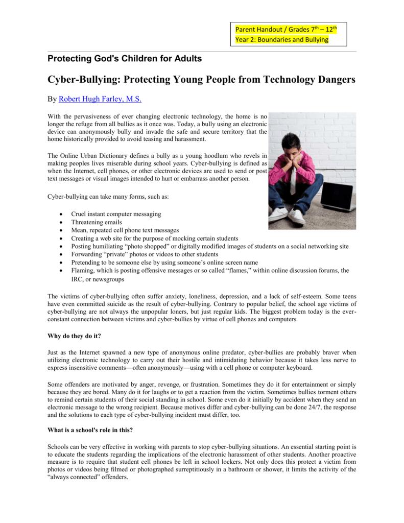 6-A Cyber Bullying 7th-12th (VIRTUS