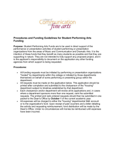Procedures and Funding Guidelines for Student Performing Arts