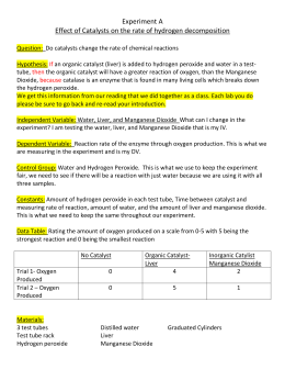 Enzyme Lab Part A Instructions