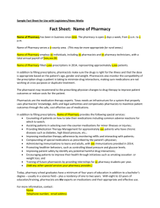 Sample Fact Sheet - Texas Pharmacy Association