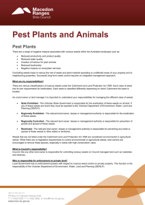 Pest plants and animals