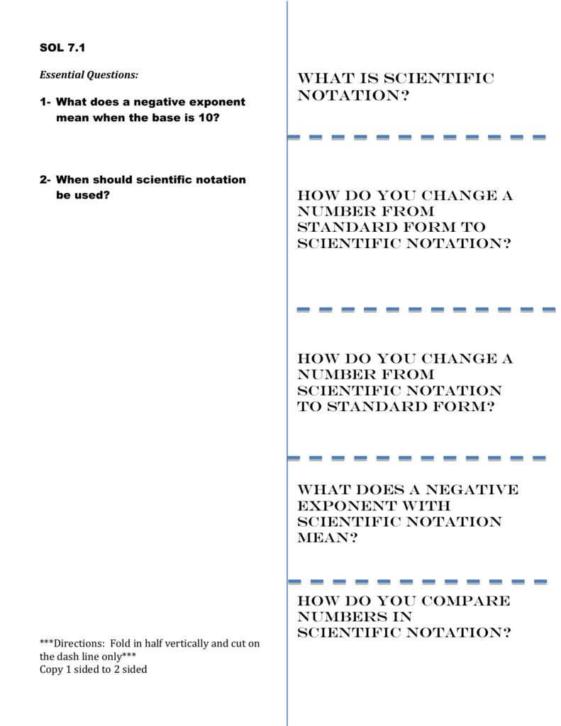 Foldable Scientific Notation 71b Doc