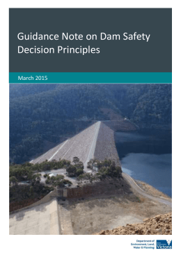 Guidance note on dam safety decision principles