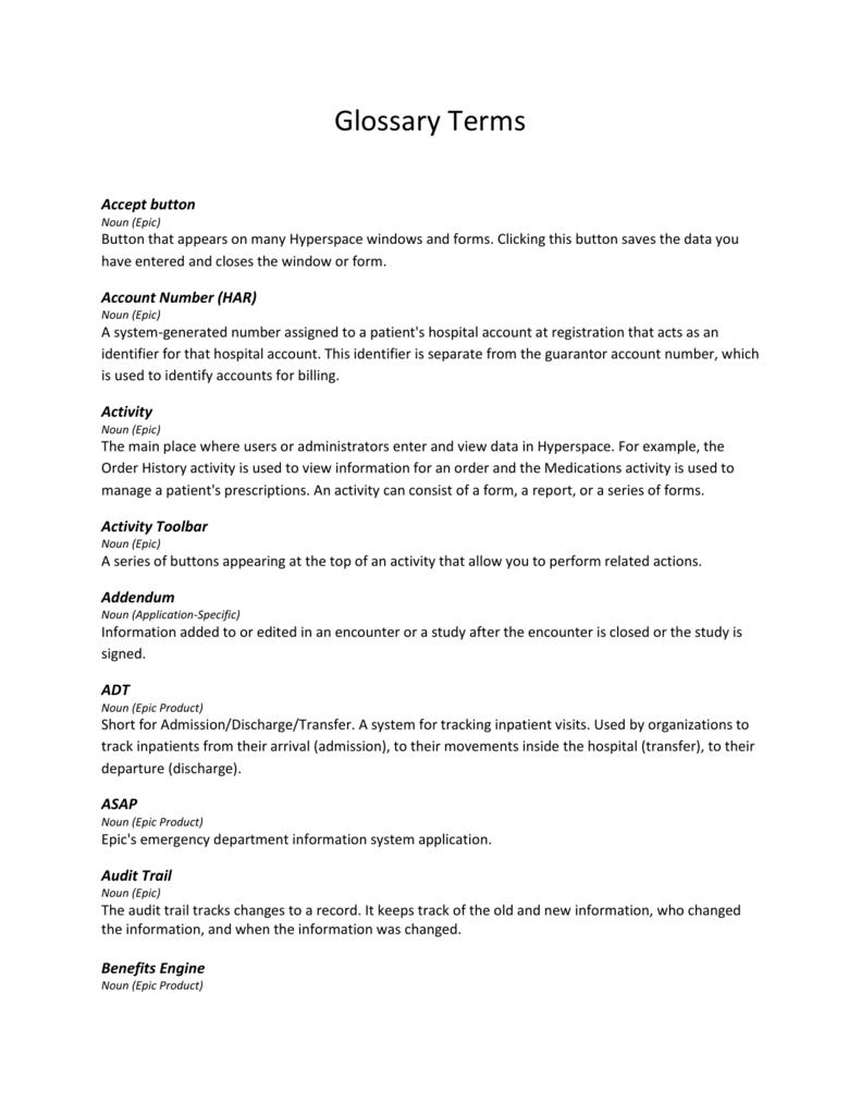 Glossary Terms - Owensboro Health
