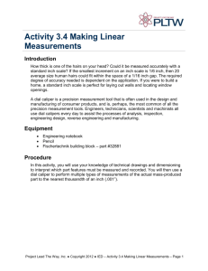 Activity 3.4 Making Linear Measurements Introduction