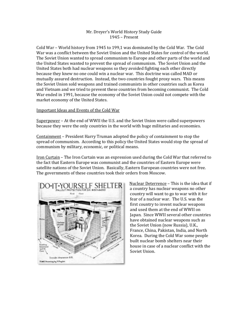 cold war review packet rh studylib net Cold War Study Questions Cold War Study Guide Quizlet