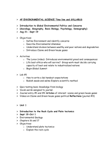 AP ENVIRONMENTAL SCIENCE Time line and SYLLABUS