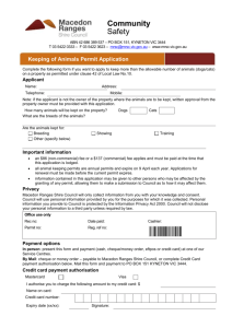 Animal keeping permit application form
