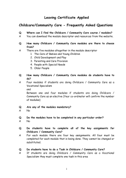 Creative Wonders Childcare Tuition Contract
