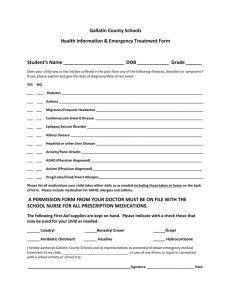 Health Information and Emergency Treatment Form