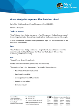 Green Wedge Management Plan Factsheet - Land