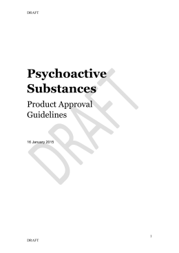 Draft Psychoactive Substances Product Approval Guideline (docx