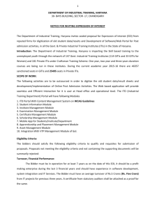Expression of Interest Details---IT Plan dated 09.10. 2015